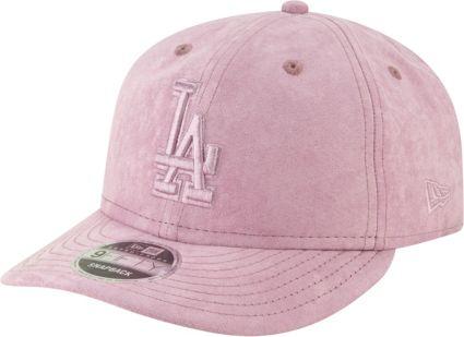 07f92e43 New Era Men's Los Angeles Dodgers 9Fifty Suede Retro Pink Adjustable  Snapback Hat. noImageFound. Previous. 1