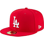 New Era Men's Los Angeles Dodgers 59Fifty Basic Red Fitted Hat