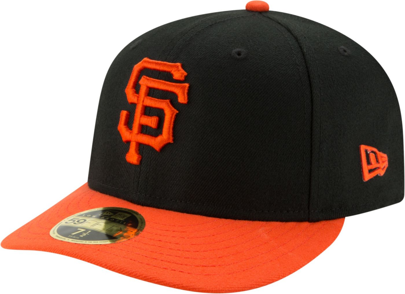 New Era Men's San Francisco Giants 59Fifty Alternate Black Low Crown Fitted Hat