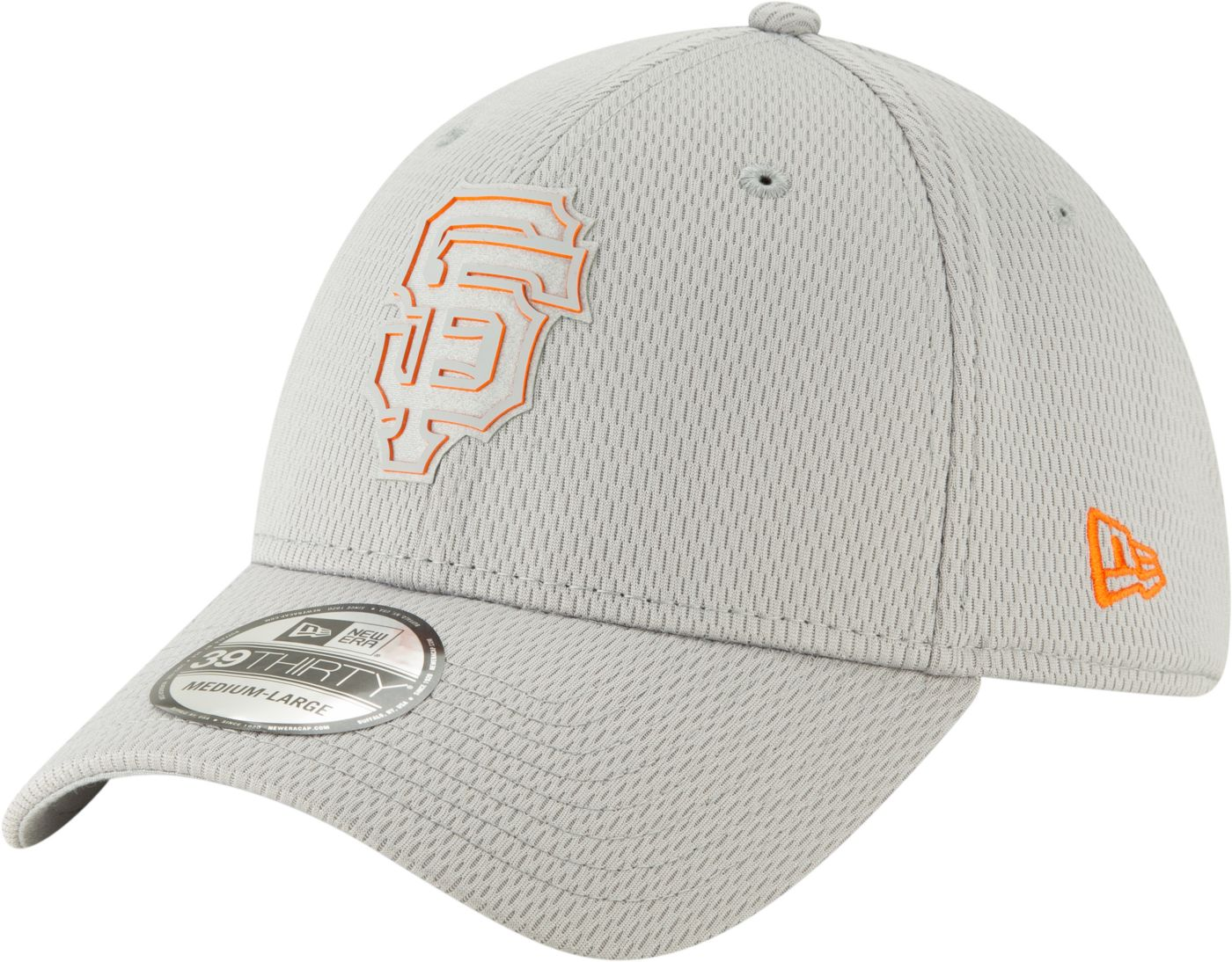 New Era Men's San Francisco Giants 39Thirty Clubhouse Grey Stretch Fit Hat