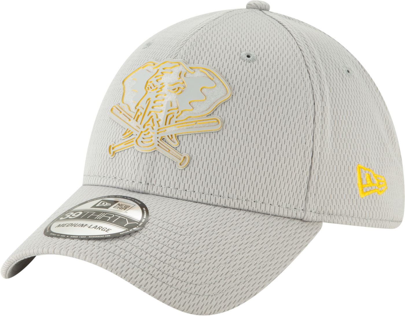 New Era Men's Oakland Athletics 39Thirty Clubhouse Grey Stretch Fit Hat