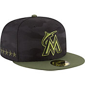 New Era Men's Miami Marlins 59Fifty 2018 Memorial Day Fitted Hat