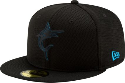 fa2545104eb New Era Men s Miami Marlins 59Fifty Clubhouse Black Fitted Hat ...