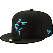 New Era Men's Miami Marlins 59Fifty HexTech Batting Practice Fitted Hat