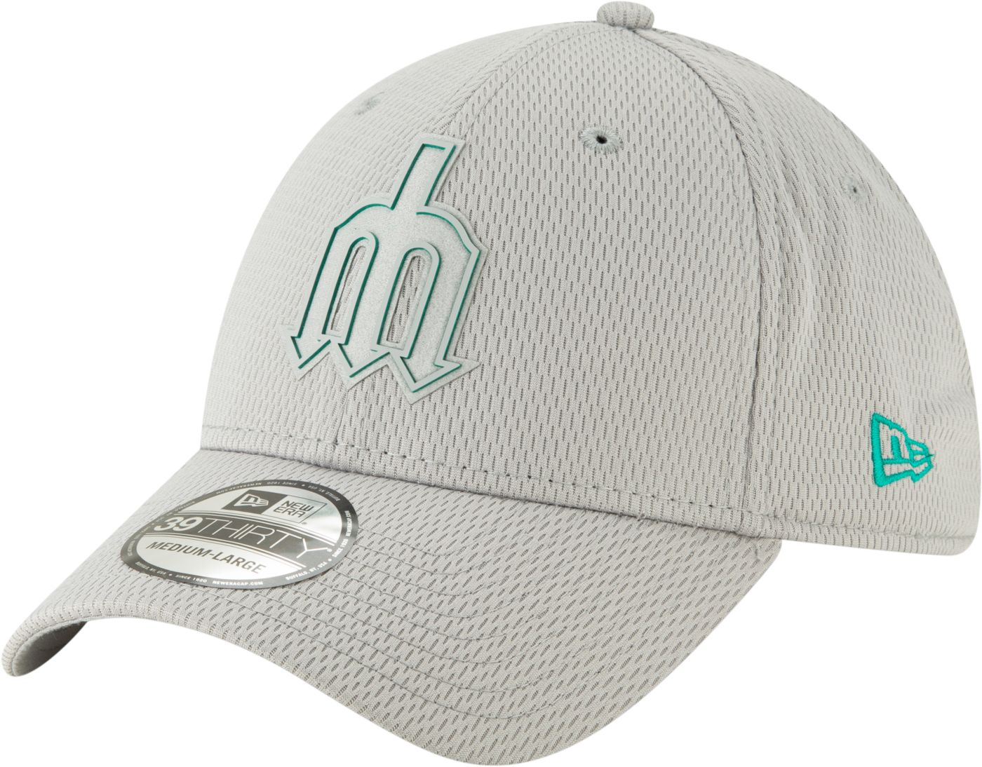 New Era Men's Seattle Mariners 39Thirty Clubhouse Grey Stretch Fit Hat