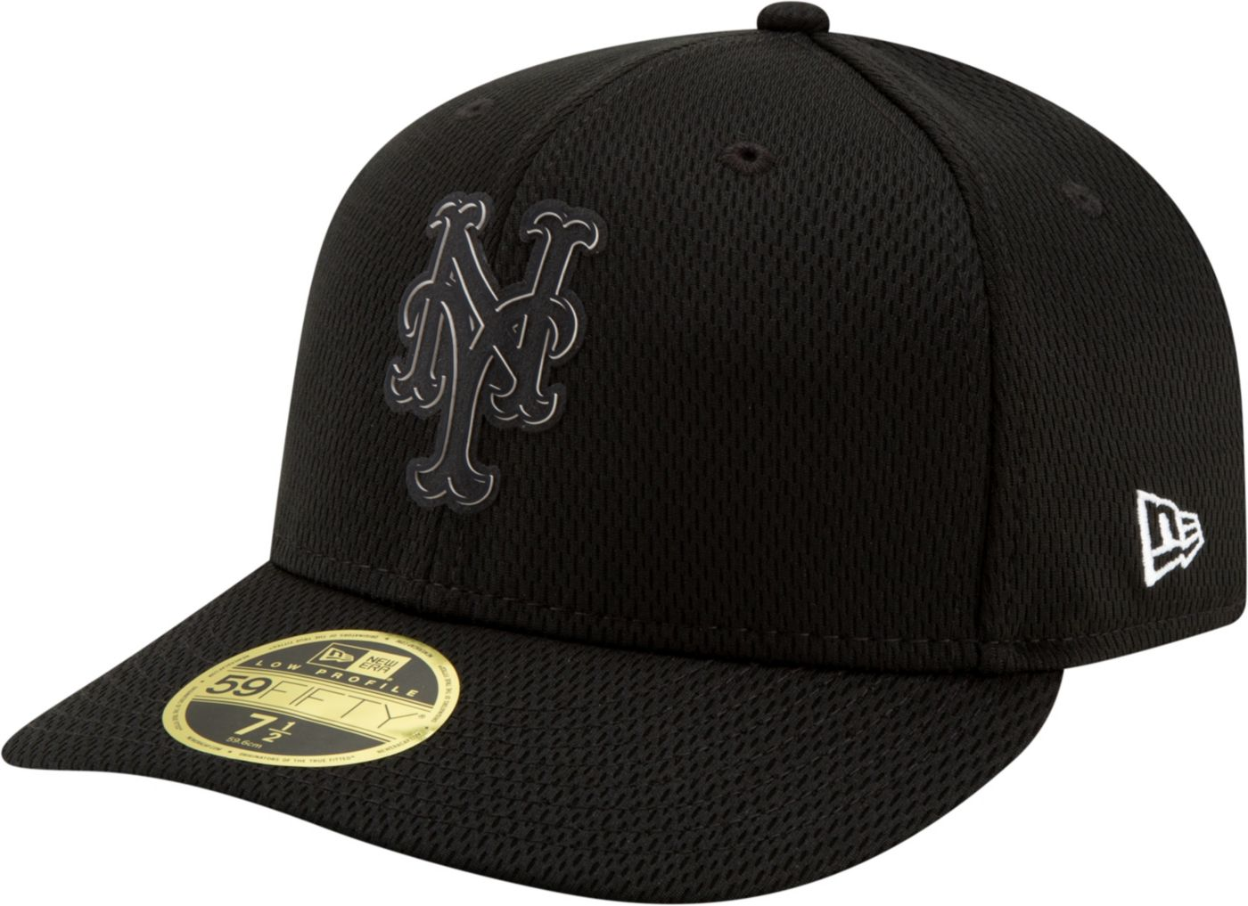 New Era Men's New York Mets 59Fifty Clubhouse Black Fitted Hat