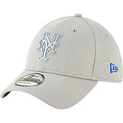 New Era Men's New York Mets 39Thirty Clubhouse Grey Stretch Fit Hat