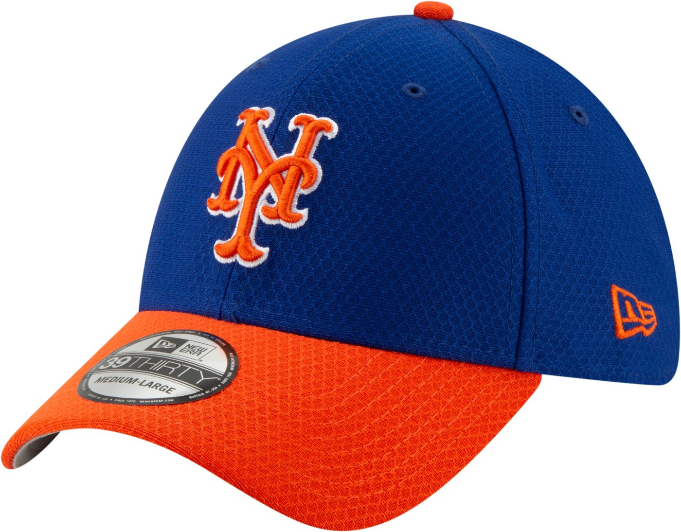 New Era Men's New York Mets 39Thirty HexTech Batting Practice Stretch Fit Hat