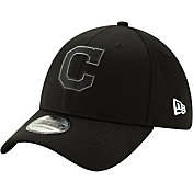 New Era Men's Cleveland Indians 39Thirty Clubhouse Black Stretch Fit Hat