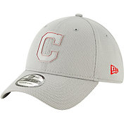 New Era Men's Cleveland Indians 39Thirty Clubhouse Grey Stretch Fit Hat