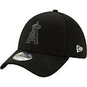 New Era Men's Los Angeles Angels 39Thirty Clubhouse Black Stretch Fit Hat