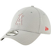 New Era Men's Los Angeles Angels 39Thirty Clubhouse Grey Stretch Fit Hat