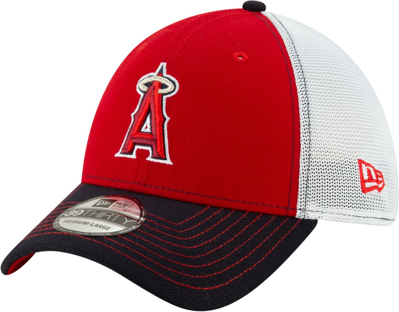 New Era Men's Los Angeles Angels 39Thirty Practice Piece Stretch Fit Hat