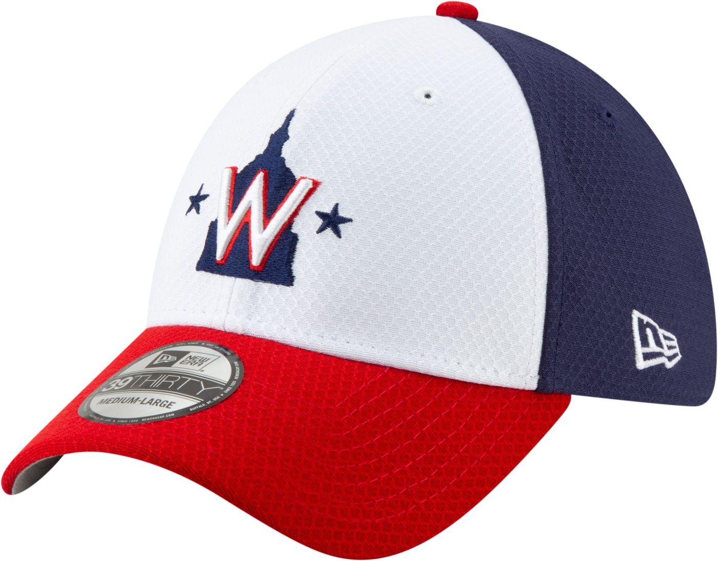New Era Men's Washington Nationals 39Thirty HexTech Batting Practice Stretch Fit Hat