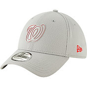 New Era Men's Washington Nationals 39Thirty Clubhouse Grey Stretch Fit Hat