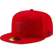New Era Men's Washington Nationals 59Fifty Clubhouse Red Fitted Hat