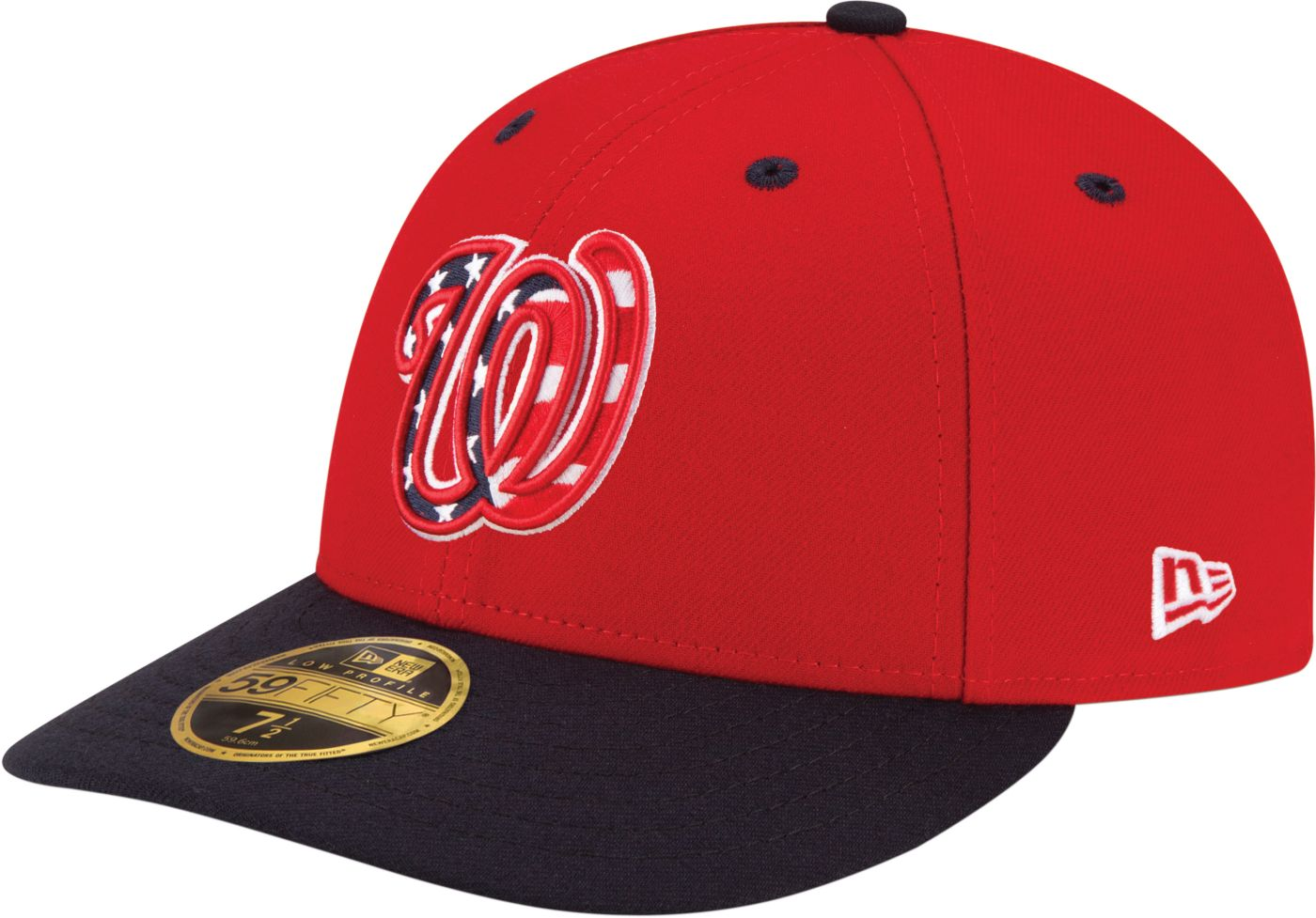 New Era Men's Washington Nationals 59Fifty Alternate Red Low Crown Fitted Hat