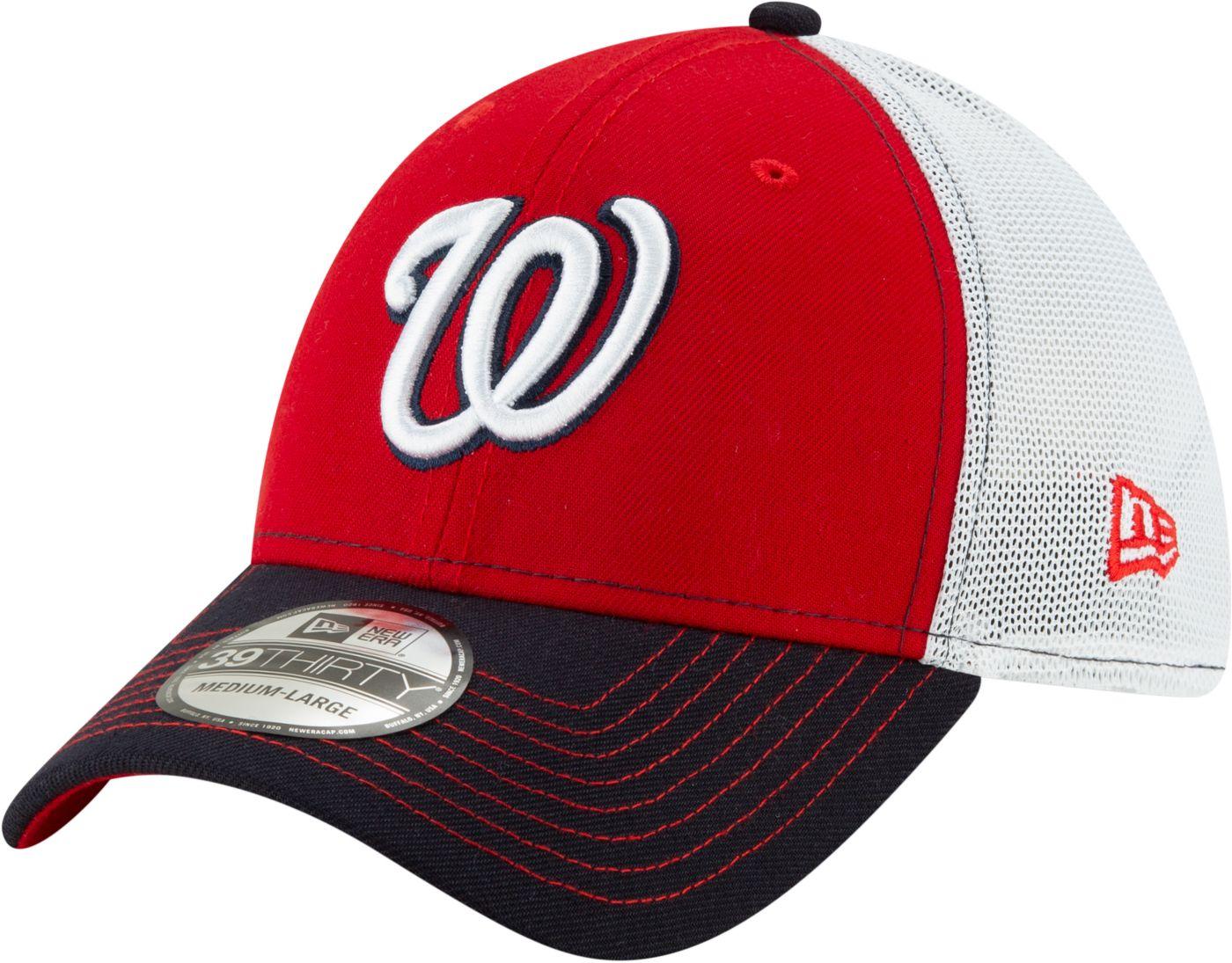 New Era Men's Washington Nationals 39Thirty Practice Piece Stretch Fit Hat
