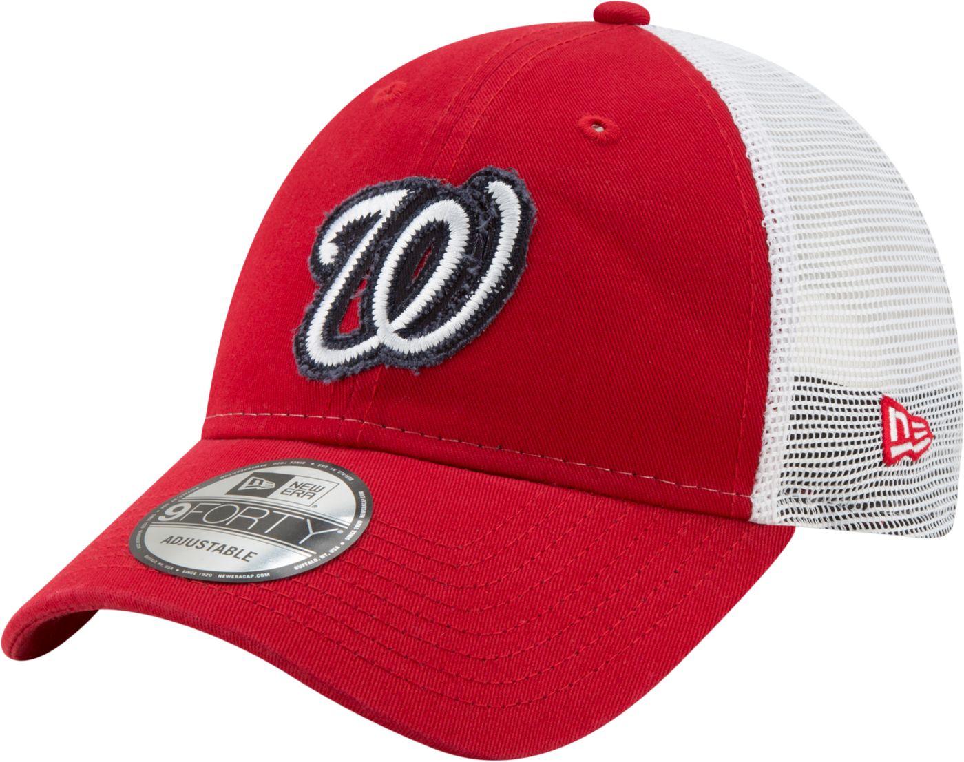 New Era Men's Washington Nationals 9Forty Team Trucker Adjustable Hat