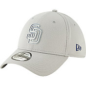New Era Men's San Diego Padres 39Thirty Clubhouse Grey Stretch Fit Hat