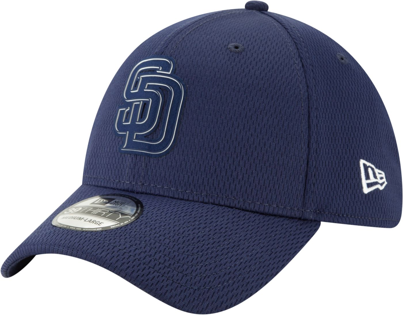 New Era Men's San Diego Padres 39Thirty Clubhouse Navy Stretch Fit Hat