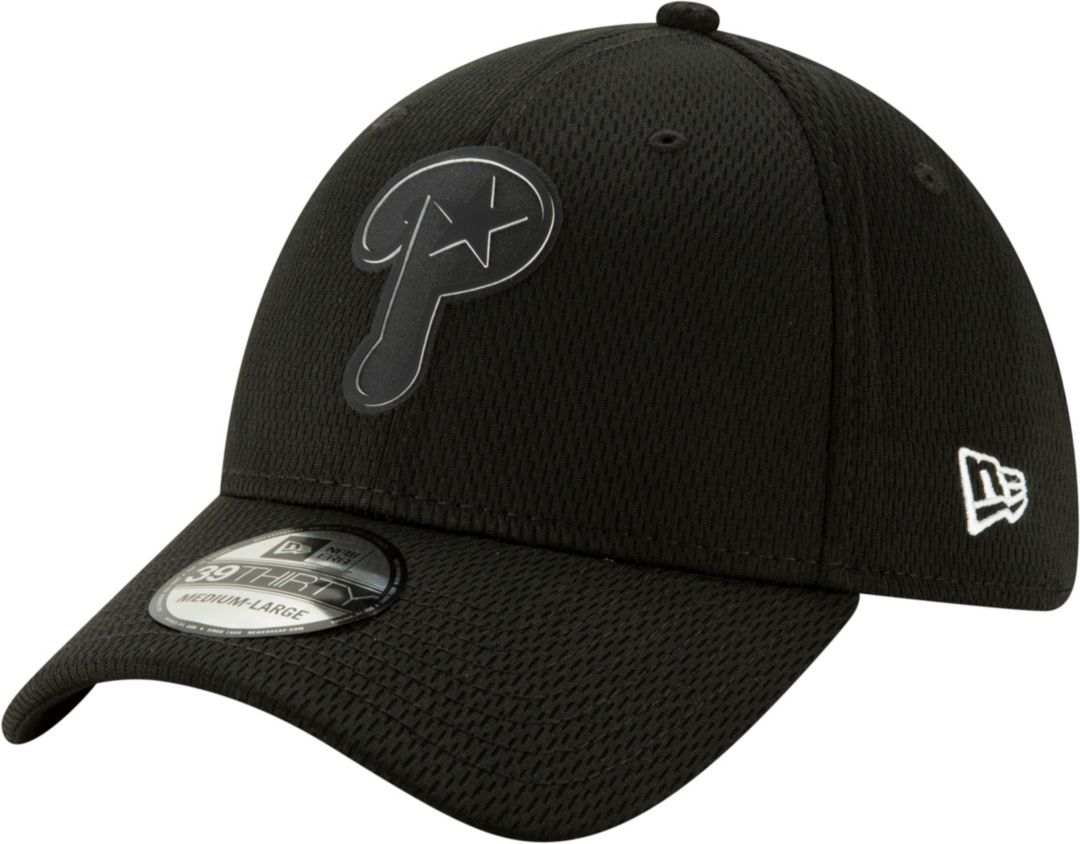 huge selection of 62540 08852 New Era Men s Philadelphia Phillies 39Thirty Clubhouse Black Stretch Fit Hat  1
