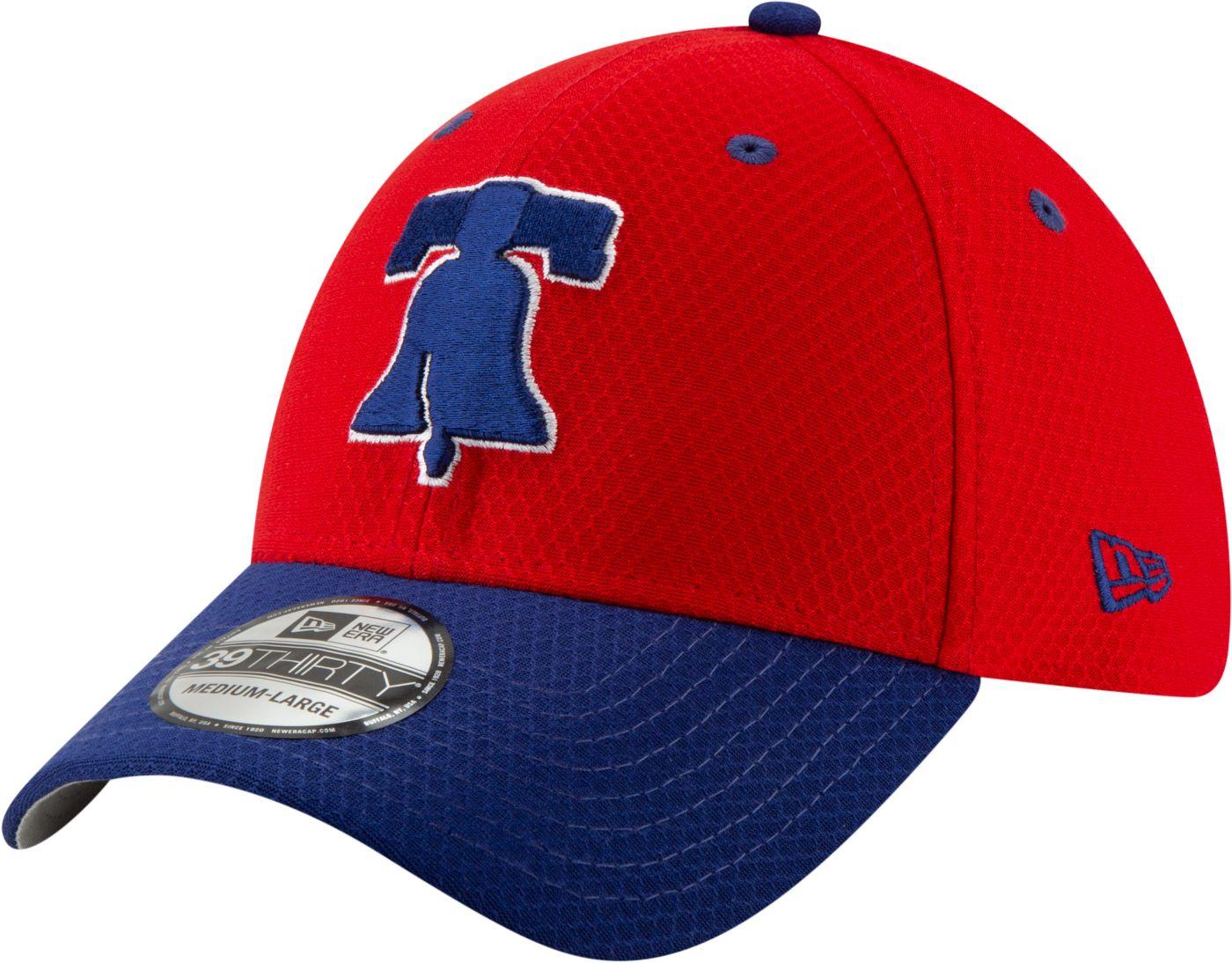 New Era Men's Philadelphia Phillies 39Thirty HexTech Batting Practice Stretch Fit Hat