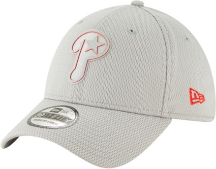 e51df1d7170 New Era Men s Philadelphia Phillies 39Thirty Clubhouse Grey Stretch Fit Hat.  noImageFound