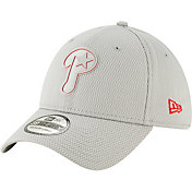New Era Men's Philadelphia Phillies 39Thirty Clubhouse Grey Stretch Fit Hat