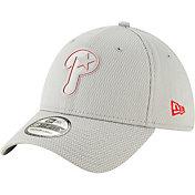 New Era Men's Philadelphia Phillies 39Thirty Clubhouse Grey Stretch Fit Hat