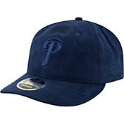 New Era Men's Philadelphia Phillies 9Fifty Suede Retro Navy Adjustable Snapback Hat