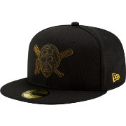 New Era Men's Pittsburgh Pirates 59Fifty Clubhouse Black Fitted Hat