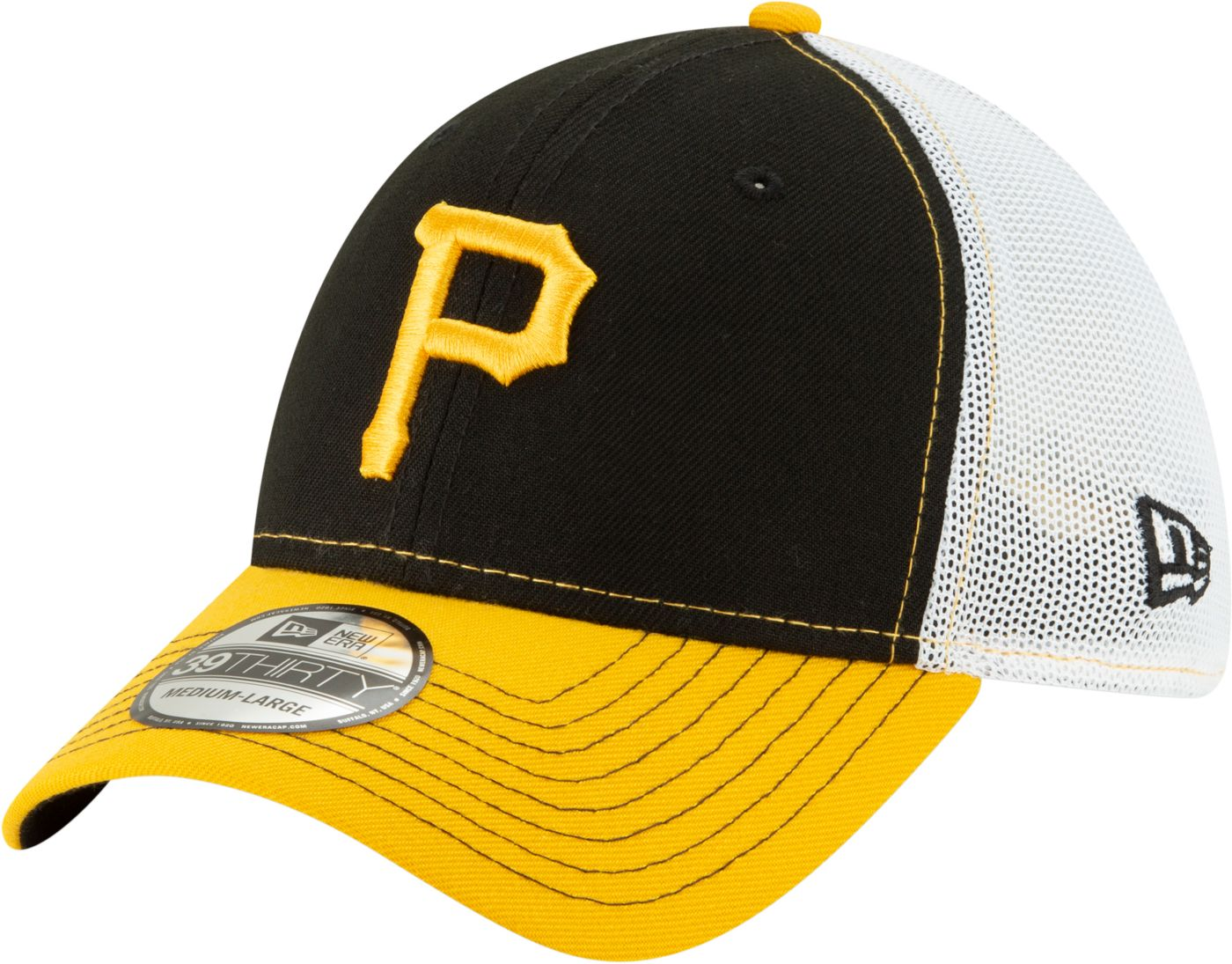 New Era Men's Pittsburgh Pirates 39Thirty Practice Piece Stretch Fit Hat