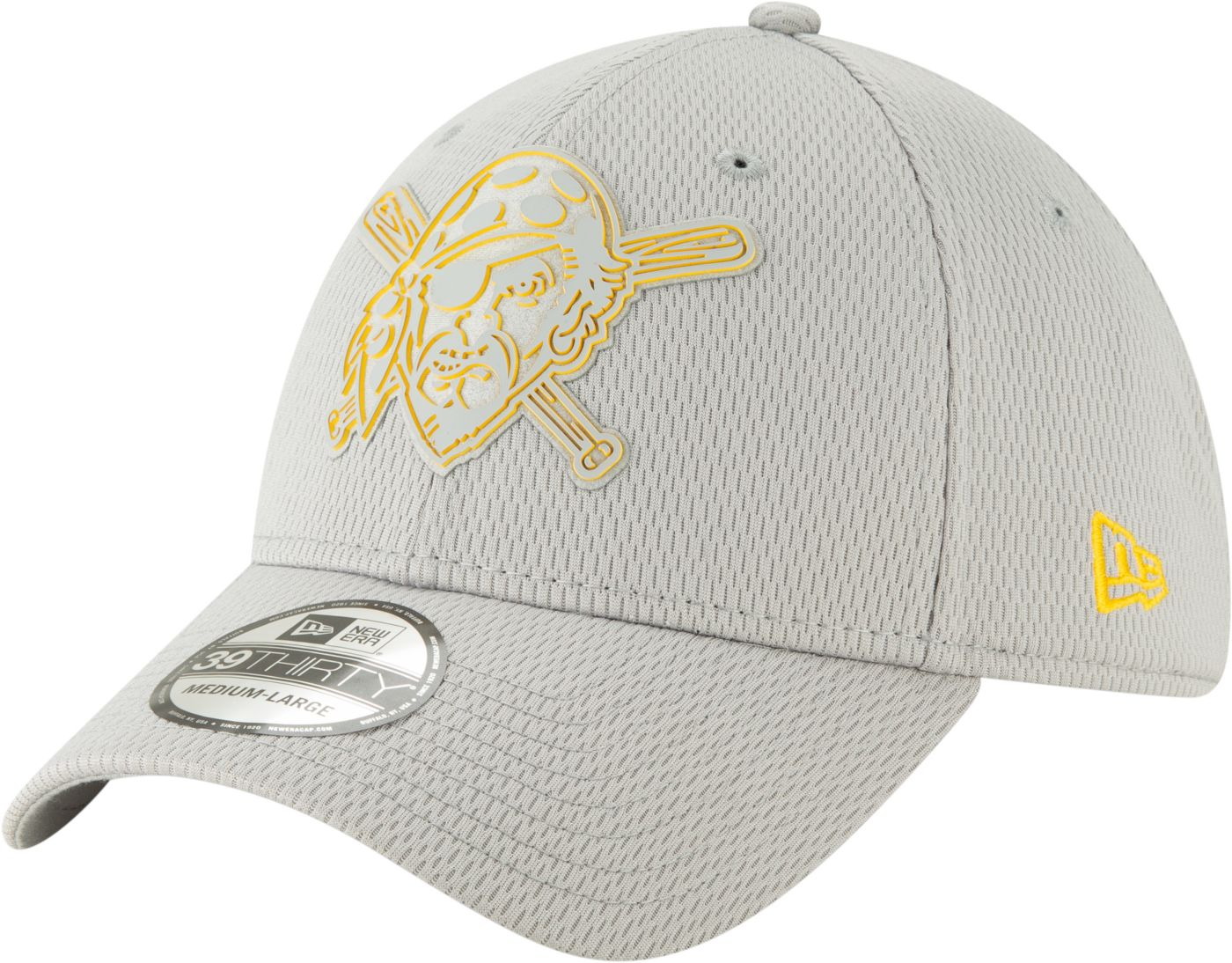 New Era Men's Pittsburgh Pirates 39Thirty Clubhouse Grey Stretch Fit Hat
