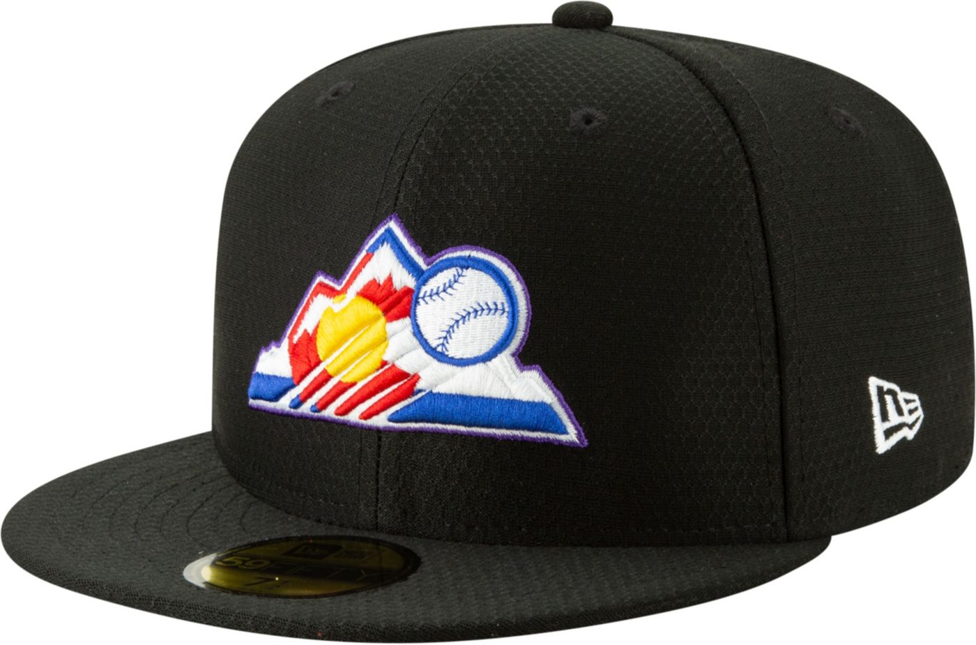 New Era Men's Colorado Rockies 59Fifty HexTech Batting Practice Fitted Hat