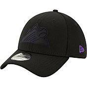 New Era Men's Colorado Rockies 39Thirty Clubhouse Black Stretch Fit Hat