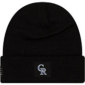 New Era Men's Colorado Rockies Black Knit Hat