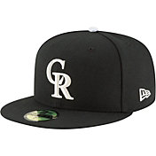 New Era Men's Colorado Rockies 59Fifty Alternate Black Authentic Hat