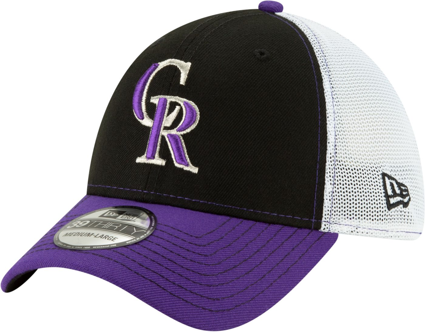 New Era Men's Colorado Rockies 39Thirty Practice Piece Stretch Fit Hat
