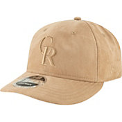 New Era Men's Colorado Rockies 9Fifty Suede Retro Brown Adjustable Snapback Hat