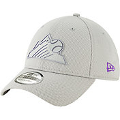 New Era Men's Colorado Rockies 39Thirty Clubhouse Grey Stretch Fit Hat