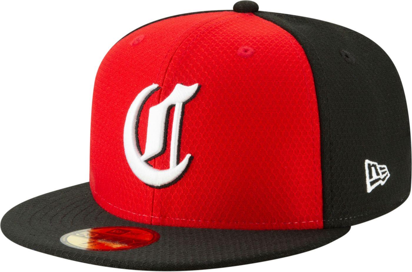 New Era Men's Cincinnati Reds 59Fifty HexTech Batting Practice Fitted Hat