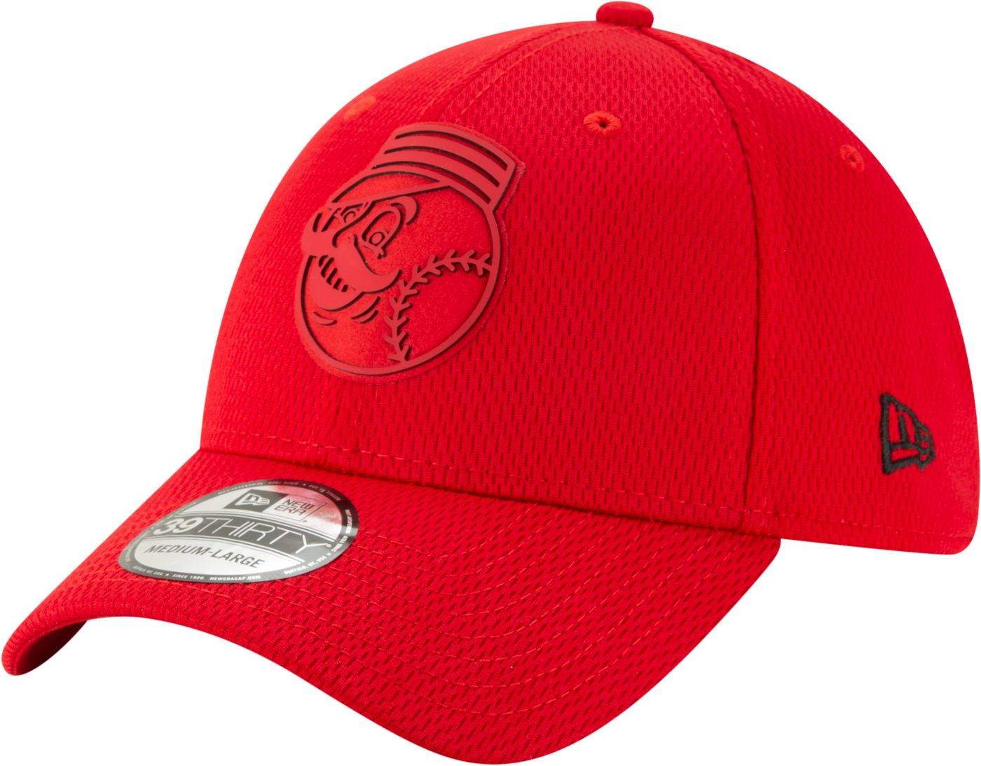 New Era Men's Cincinnati Reds 39Thirty Clubhouse Red Stretch Fit Hat