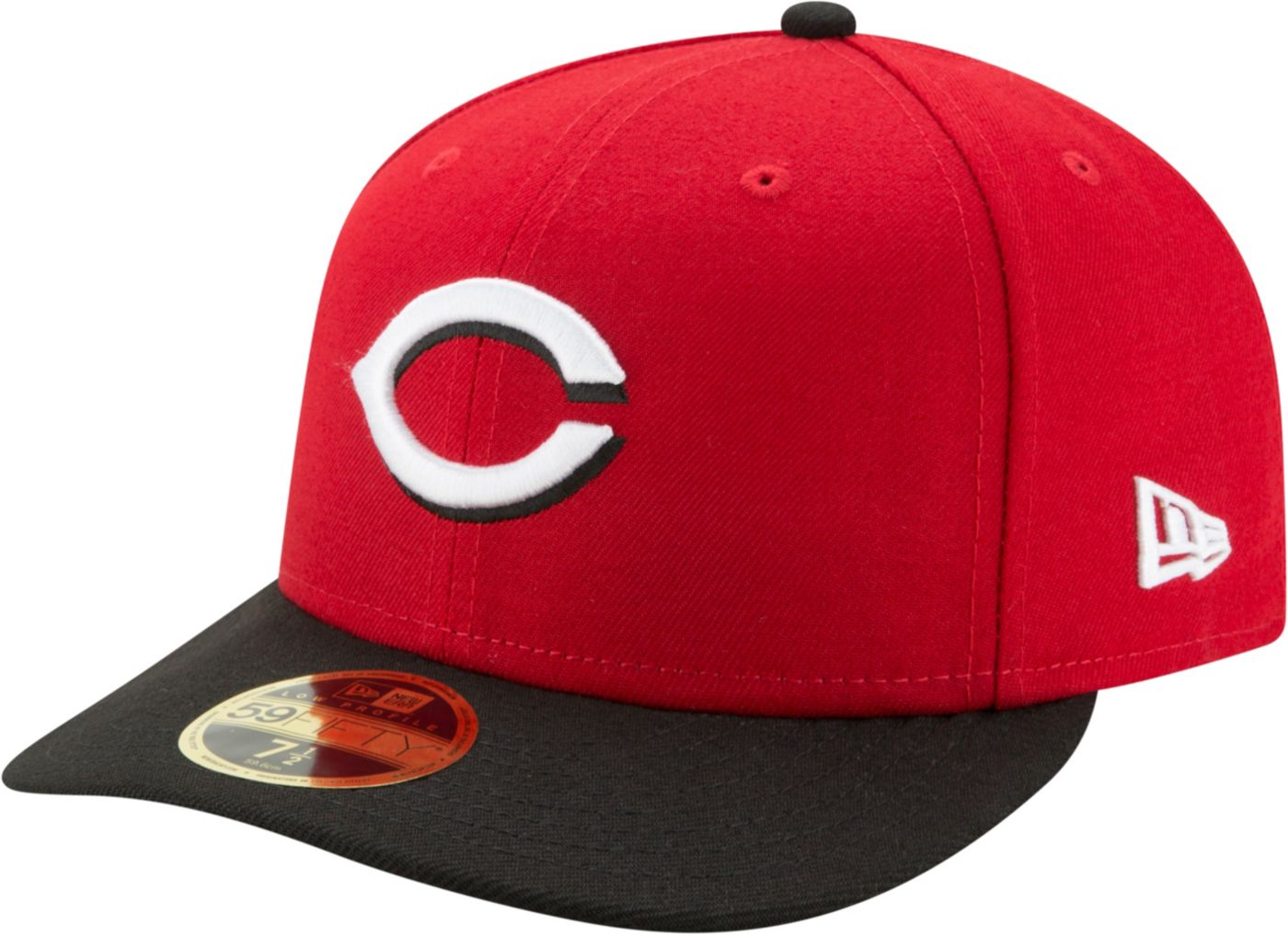 New Era Men's Cincinnati Reds 59Fifty Road Red Low Crown Fitted Hat