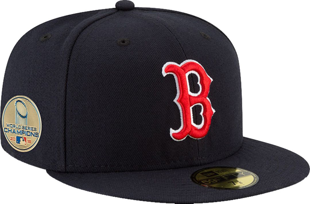 6fa7e7cd5dde9 New Era Men s 2018 World Series Champions 59Fifty Boston Red Sox Game Navy  Authentic Hat 1