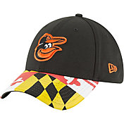 New Era Men's Baltimore Orioles 39Thirty Flag Brim Stretch Fit Hat