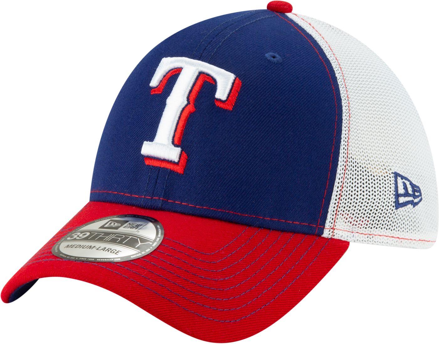 New Era Men's Texas Rangers 39Thirty Practice Piece Stretch Fit Hat
