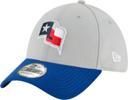 11eb72edc24 New Era Men  39 s Texas Rangers 39Thirty Grey Royal Stretch Fit Hat