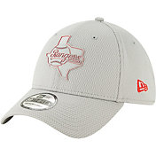 New Era Men's Texas Rangers 39Thirty Clubhouse Grey Stretch Fit Hat