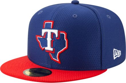 1bf69ee3c9a New Era Men  39 s Texas Rangers 59Fifty HexTech Batting Practice Fitted Hat